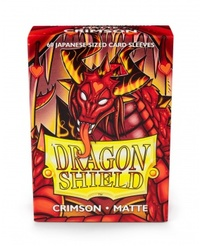 Dragon Shield - Japanese Size Sleeves - Matte Crimson (60 Sleeves) - Cover