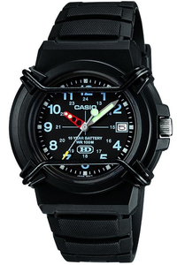 Casio 100m Dial Analogue Wrist Watch (Black) - Cover