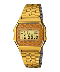 Casio A159WGEA Bracelet Watch (Gold Orange) - Cover