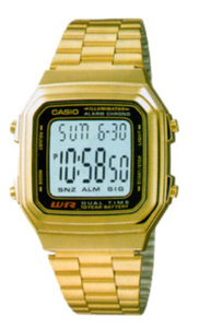 Casio A178WGA Bracelet Watch (Gold) - Cover