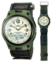 Casio AW-80V Bracelet Watch (Green) - Cover