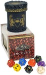 The Dark Eye: Dice Cup With Eight D20 Dice