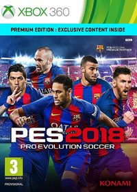 Pro Evolution Soccer 2018 (Xbox 360) - Cover