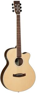 Tanglewood Discovery Super Folk Acoustic Electric Guitar (Natural)