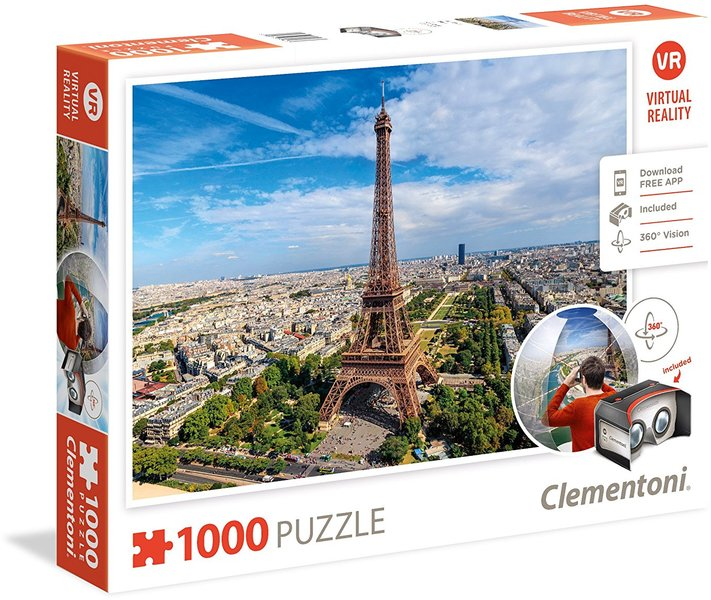 Clementoni - Virtual Reality - Paris Puzzle (1000 Pieces)