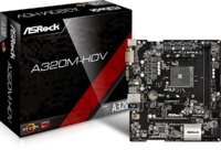 ASRock A320M-HDV AMD AM4 Socket Gaming Motherboard (RYZEN) - Cover