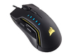 Corsair - Glaive RGB USB Optical 16000DPI Right-hand Mouse - Black/Yellow