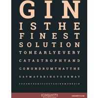Ginsanity - The Gin Eye Test (A4 Poster)