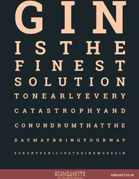 Ginsanity - The Gin Eye Test (A4 Poster) - Cover