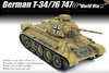 Academy - 1/35 - T-34/76 747(r) German Version (Plastic Model Kit)