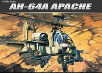 Academy - 1/48 - AH-64A Apache Helicoptor (Plastic Model Kit) - Cover