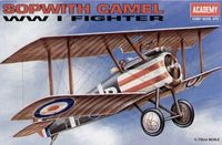 Academy - 1/72 - Sopwith Camel WW1 Fighter (Plastic Model Kit) - Cover