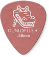 Dunlop 417P 0.58mm Gator Grip Guitar Pick (Red)