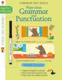 Wipe-Clean Grammar & Punctuation 6-7 - Jessica Greenwell (Paperback) - Cover