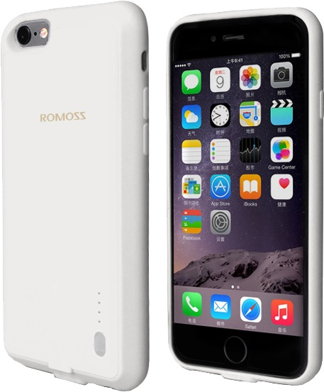 huge selection of cc961 792be Romoss EnCase 6S 2000mAh Battery Case for iPhone 6 and 6S - White