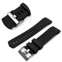 Tuff-Luv Replacement Adjustable Silicone Strap Bracelet Wrist Band for Fitbit Charge 2 - Black