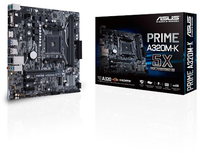 ASUS - PRIME A320M-K AMD A320 Socket AM4 Micro ATX Motherboard - Cover