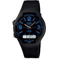Casio Retro AW-90H Analog and Digital Watch - Black and Blue