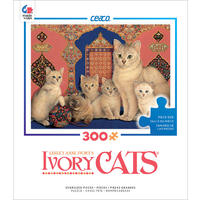 Ceaco - Ivory Cats Catkin & Her Kittens Puzzle (300 Pieces)