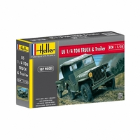 Heller - 1:35 - Jeep Willis & Trailer (Plastic Model Kit) - Cover