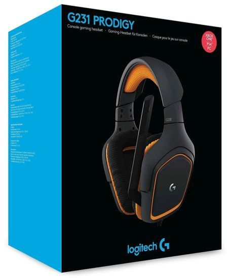 Logitech - G231 Prodigy Wired Gaming Headset with Mic (Xbox One/PS4/PC)
