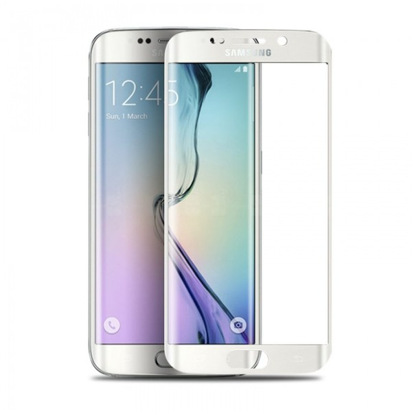 Muvit Tempered Glass LCD Screen Protector for Galaxy S6 Edge - White