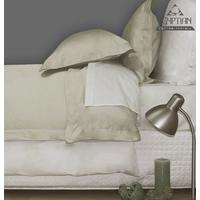 Sheraton - 400TC Egyptian Cotton Oxford Duvet Cover Set in Sand (Queen)