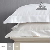 Sheraton - 400TC Egyptian Cotton Oxford Pillowcase Pair in Sand (King)