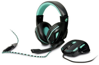 Port Designs - AROKH Gaming Bundle Pack 1 - Mouse and Headset - Green - Cover