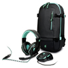 Port Designs - AROKH Gaming Bundle Pack 2 - Mouse and Headset and Backpack - Green