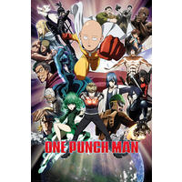 One Punch Man - Collage (Framed Poster)