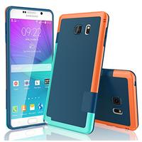 Galaxy Note 5 Case, TILL(TM) Ultra Slim 3 Color Hybrid Impact Anti-slip Shockproof Soft TPU Hard PC Bumper Extra Front Raised Lip Case Cover for Samsung Galaxy Note 5 V SM-N920 [Blue] (Wireless Phone Accessory)