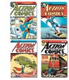 Superman - Comic Covers Coasters Four Pack