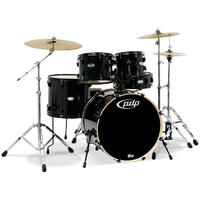 PDP Mainstage 5pc Acoustic Drum Kit - Black (10 12 16 22 14 Inch)