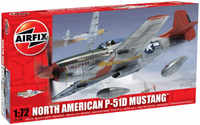 Airfix - 1/72 - North American P-51D Mustang (Plastic Model Kit) - Cover