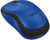 Logitech - M220 Silent RF Wireless Optical Ambidextrous Mouse - Black/Blue