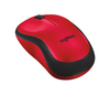 Logitech - M220 Silent RF Wireless Optical Ambidextrous Mouse - Black/Red