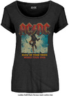 AC/DC - Blow up Your Video Ladies Black T-Shirt (Large)