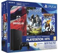 Sony PlayStation 4 Slim 500GB Console (Includes Horizon Zero Dawn, Ratchet & Clank, Driveclub + 3 Months PSN) - Cover