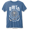Bring Me The Horizon - Crooked Young Mens Burnout Mid Blue T-Shirt (Large)