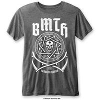 Bring Me The Horizon - Crooked Young Mens Burnout Charcoal T-Shirt (X-Large)
