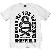 Bring Me The Horizon - Snake Mens White T-Shirt (Large)