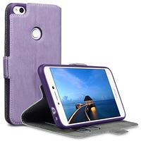 2017 Huawei P8 Lite Case - Terrapin Huawei P8 Lite 2017 Leather Case Wallet Flip Cover - Ultra Slim Fit - Viewing Stand - Card Slots - Purple (Electronics)