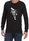 A Wizard is Never Late Mens Long Sleeve T-Shirt Black (Large)