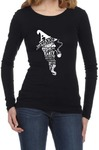 A Wizard is Never Late Womens Long Sleeve T-Shirt Black (Large)