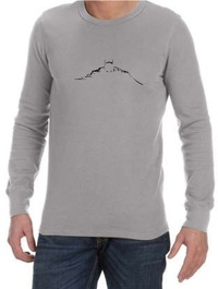Batman Silhouette Mens Long Sleeve T-Shirt Grey (Small) - Cover