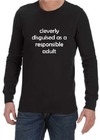 Cleverly Disguised Mens Long Sleeve T-Shirt Black (Small)