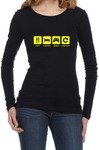 Eat Sleep Game Repeat Womens Long Sleeve T-Shirt Black (XX-Large)