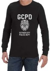 GCPD Mens Long Sleeve T-Shirt Black (X-Large)