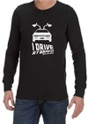 I Drive at 88mph Mens Long Sleeve T-Shirt Black (Small)